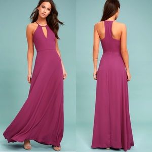 NWT Beauty and Grace Magenta Lulus Maxi Dress
